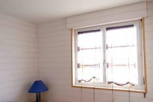 Isolation d'intérieur avec isolant laine de bois test grandeur nature et finition lambris