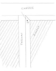 fixation des tasseaux avec des vis en diagonale