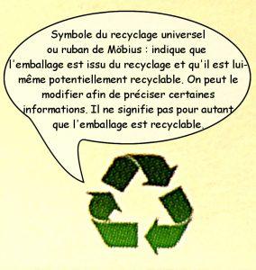 symbole de recyclage universel ou ruban de möbius