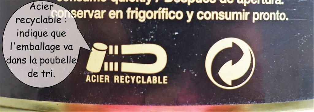 logo de recyclage métal