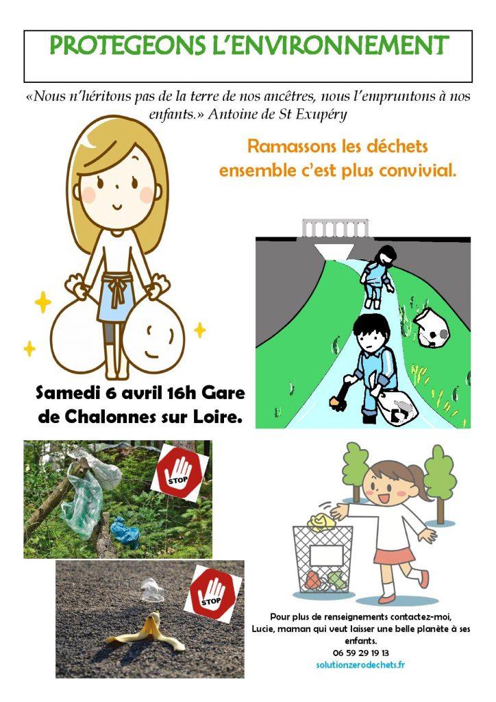 ramassons les déchets à la gare de Chalonnes sur Loire