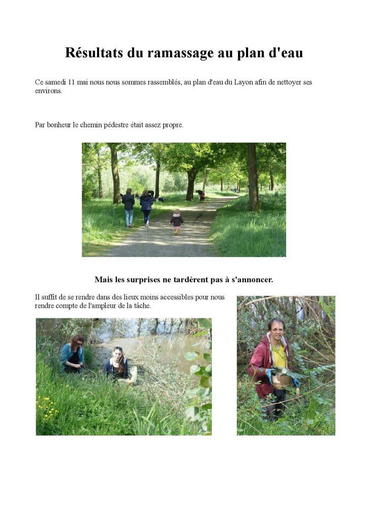 résultat du ramassage des déchets à Chalonnes sur Loire dans le Maine et Loire