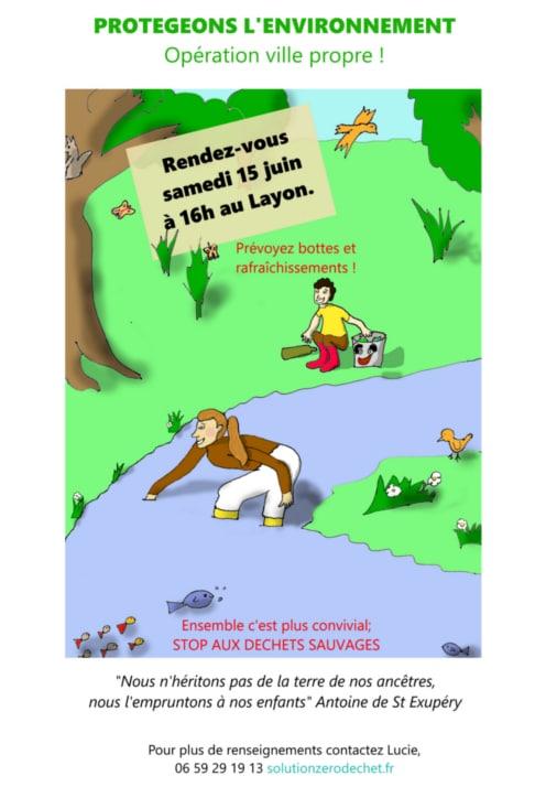 ramassage des déchets le 15 juin à 16h au plan d'eau du Layon à Chalonnes sur Loire