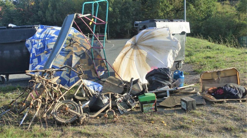 Résultat du ramassage de déchet à l'Armanger le samedi 28 septembre 2019 à Chalonnes sur Loire