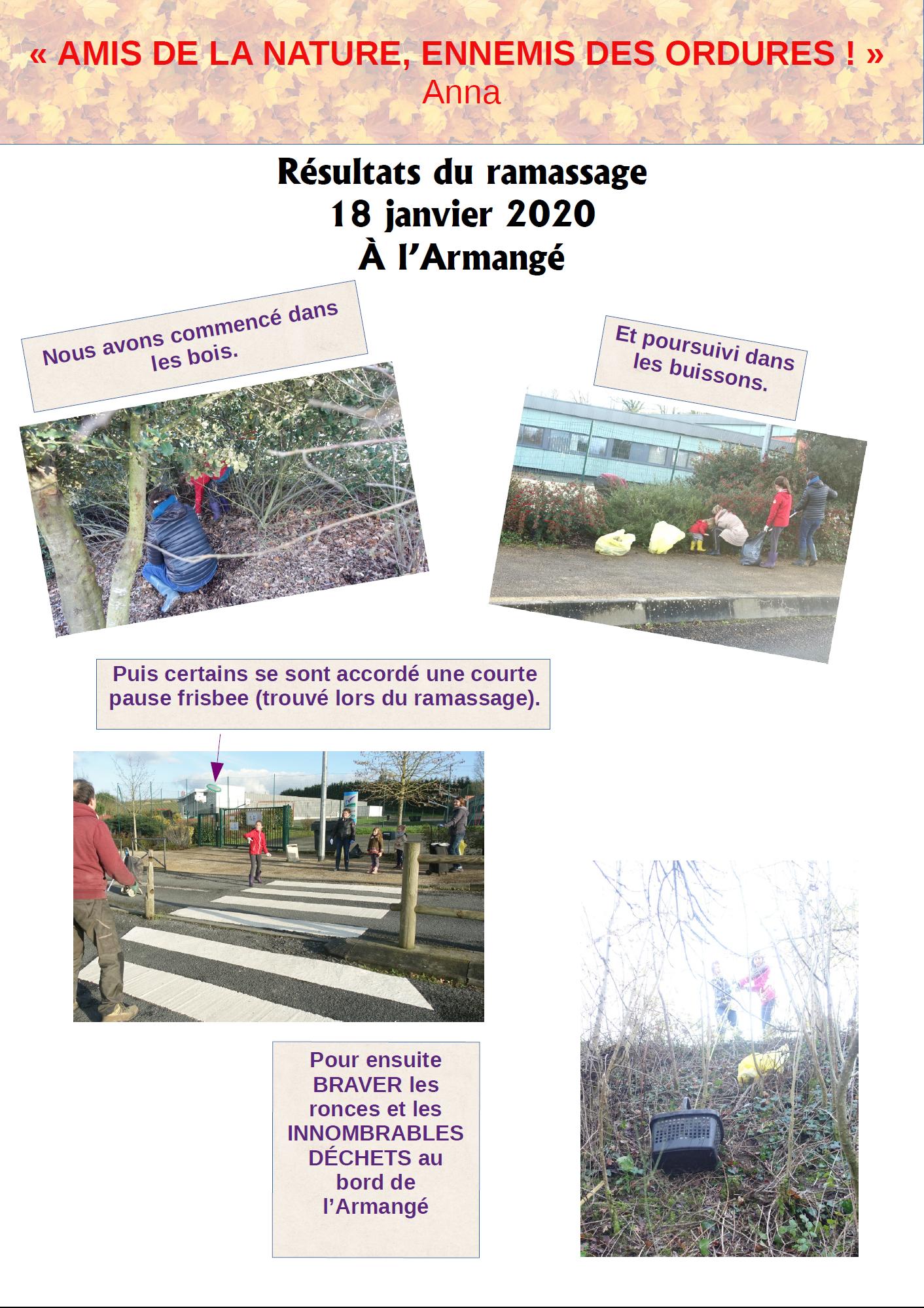 ramassage de déchet à Chalonnes sur Loire